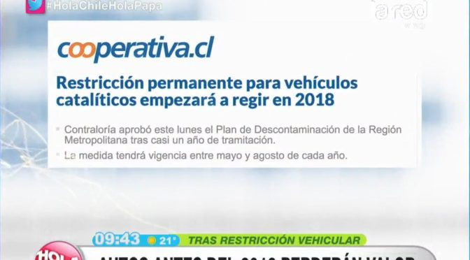 Todo por el medioambiente: La mala noticia para los que compraron su auto antes del 2012